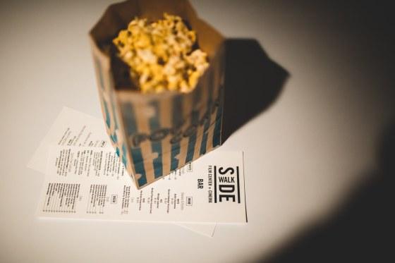 popcorn at Sidewalk Film Center