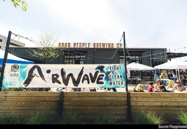 AirWave Festival sign