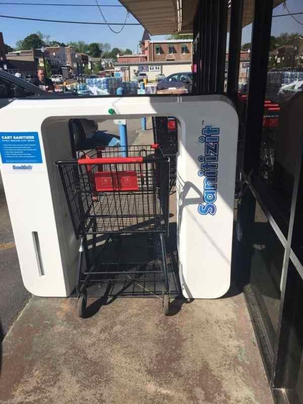 Birmingham, Sanitizit machine, sanitizing, grocery cart sanitation