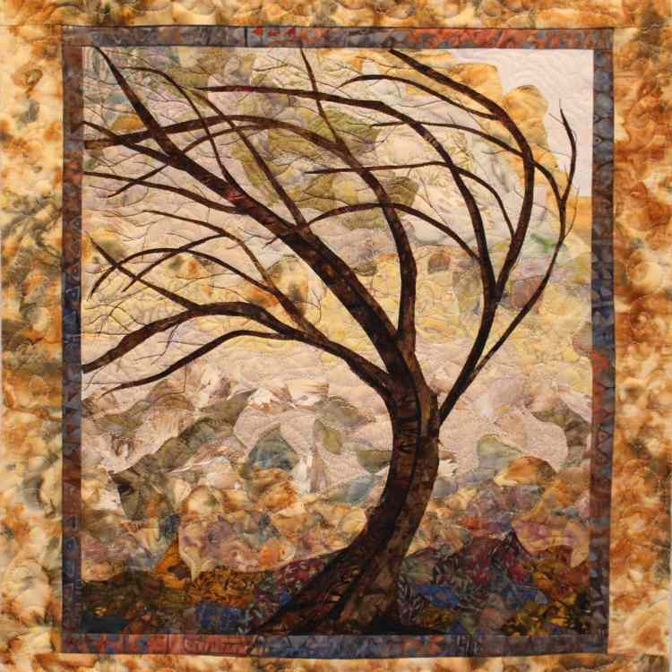 """Desert Wind"" quilt by Murray Johnston"