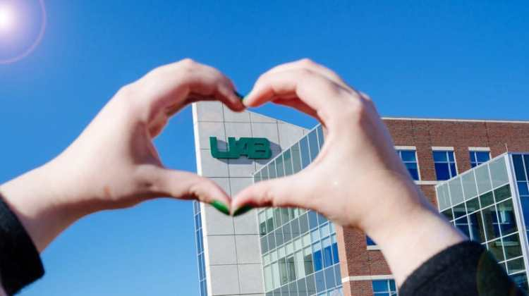 caring heart hands at UAB