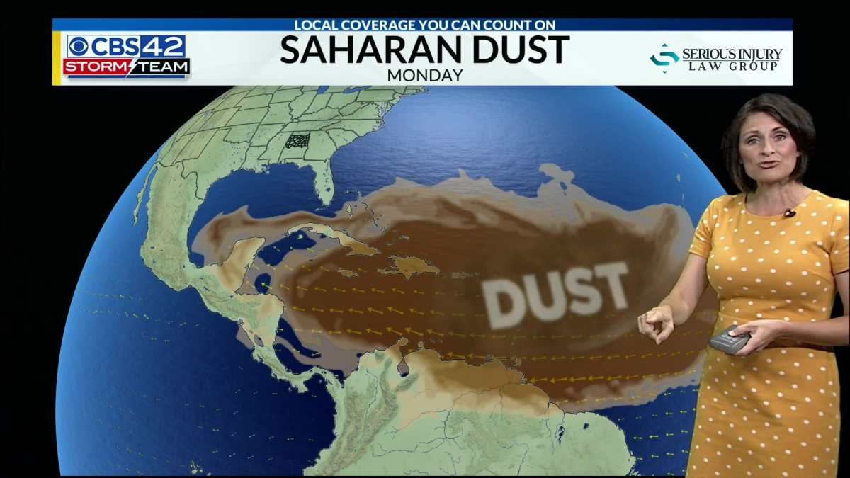 What is Saharan Dust? When is it coming to Birmingham? Answers from CBS 42's Ashley Gann