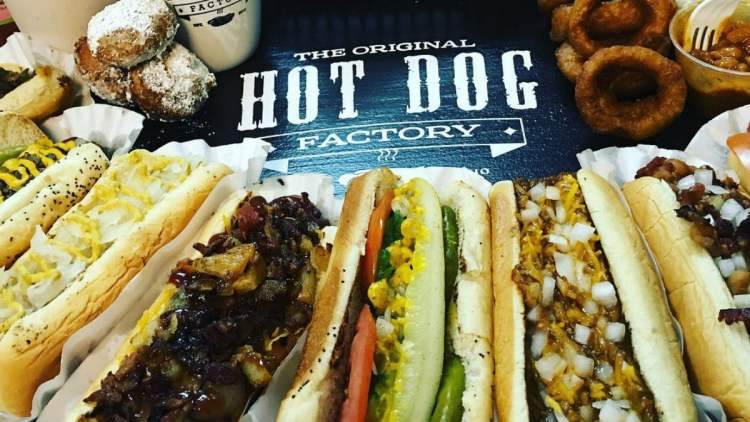 Original Hot Dog Factory food - soon opening in Center Point