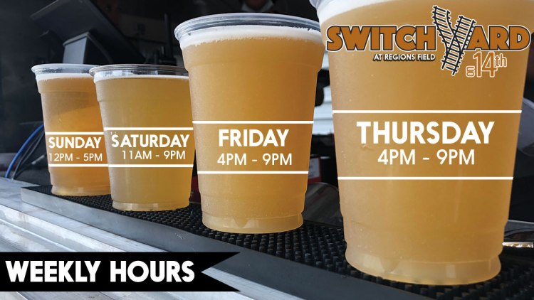 The SwitchYard is open at Regions Field on the weekends, next to Railroad Park