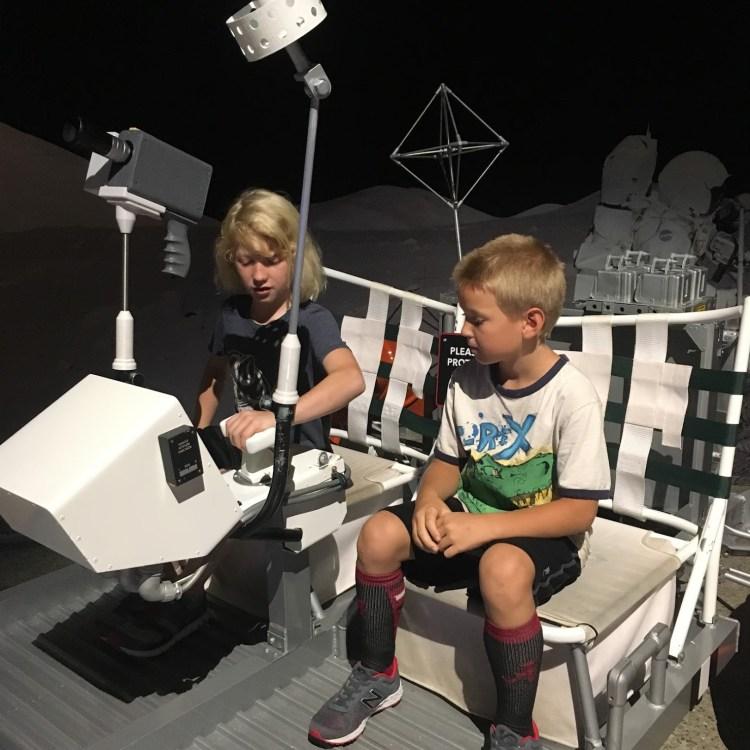 Kids on a lunar module