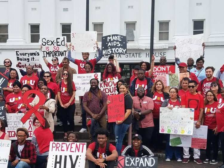 People from AIDS Alabama advocating for change