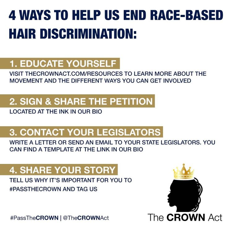 Help end race-based hair discrimination with The CROWN Act