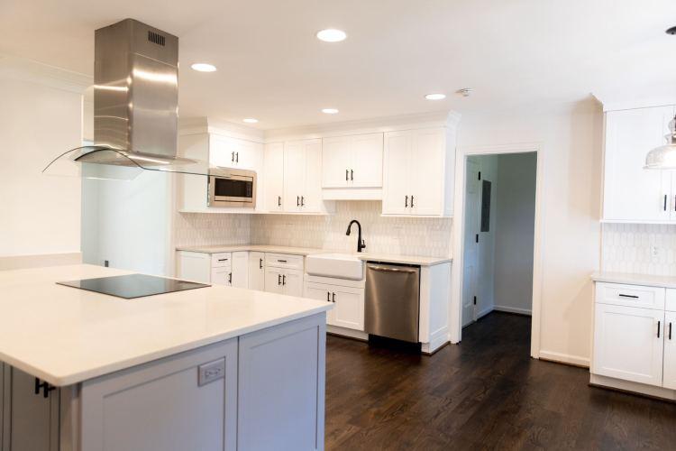 a pristine white kitchen