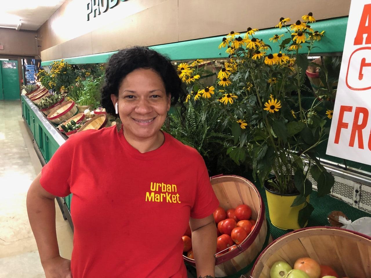 Urban Market Discount Foods owner Mara Allen