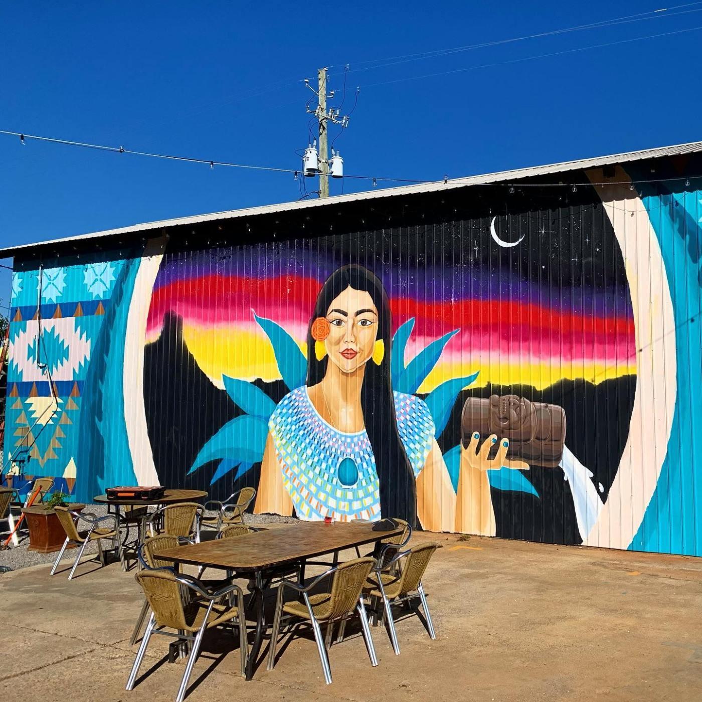 mayawell bar mural