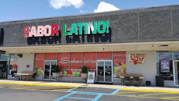 Storefront of Sabor Latino!