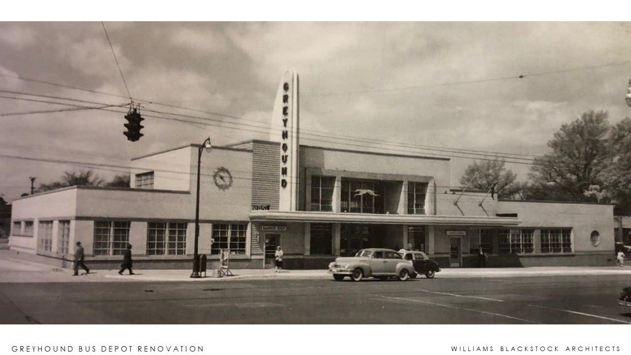 imagem da antiga estação de autocarros Greyhound de Birmingham
