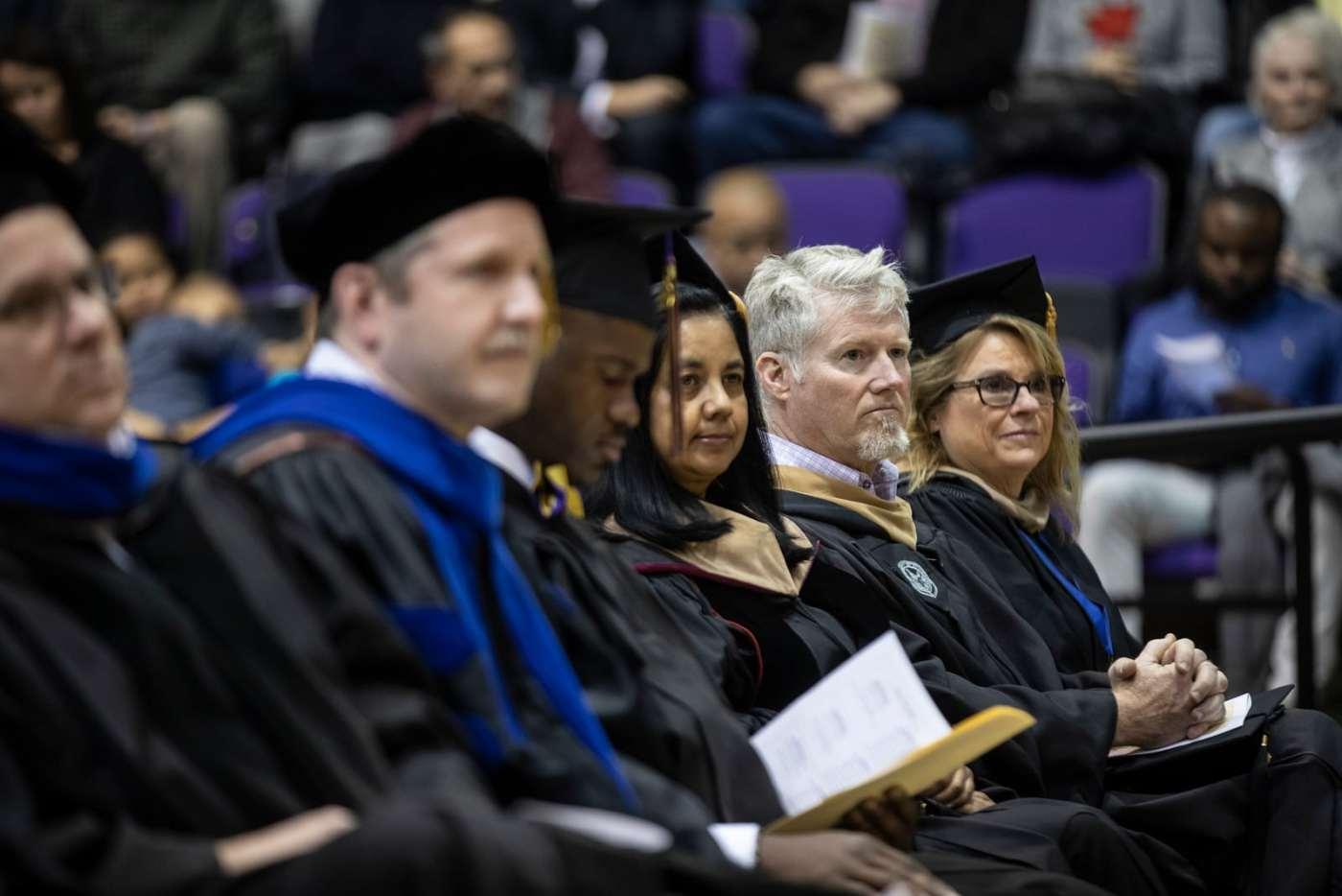 UNA Faculty at a graduation ceremony