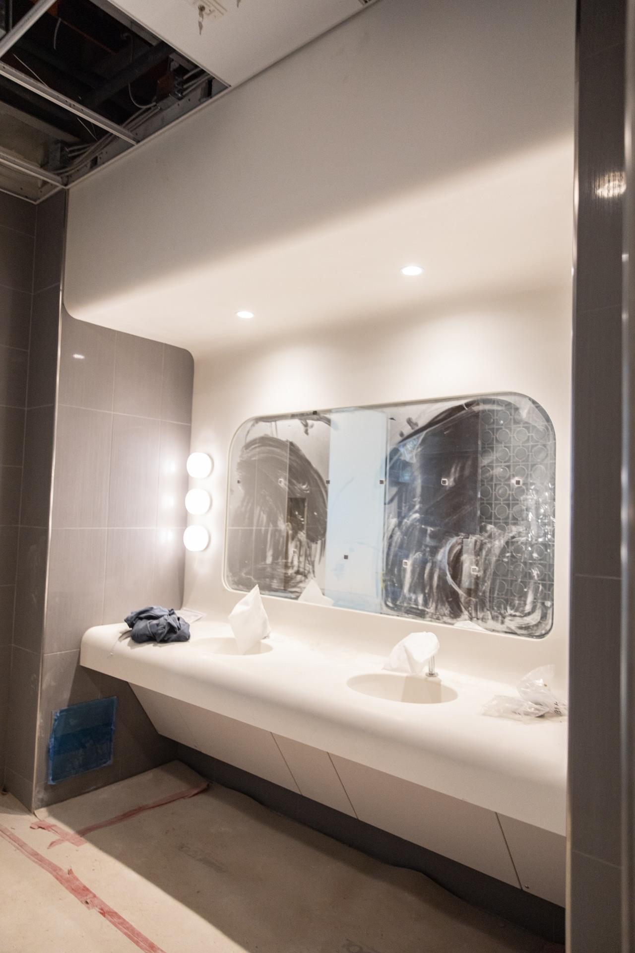 bathroom at the Greyhound building