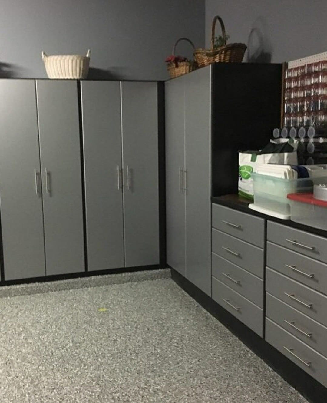 Garage storage cabinets by Closets by Design