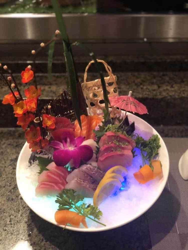Okinawa Sushi and Hibachi creates elaborate artwork from its sushi