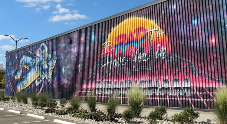 mural at monday night brewing