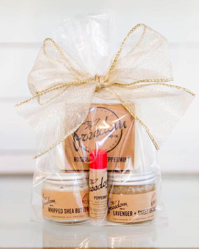 Freedom Soap peppermint gift bundle