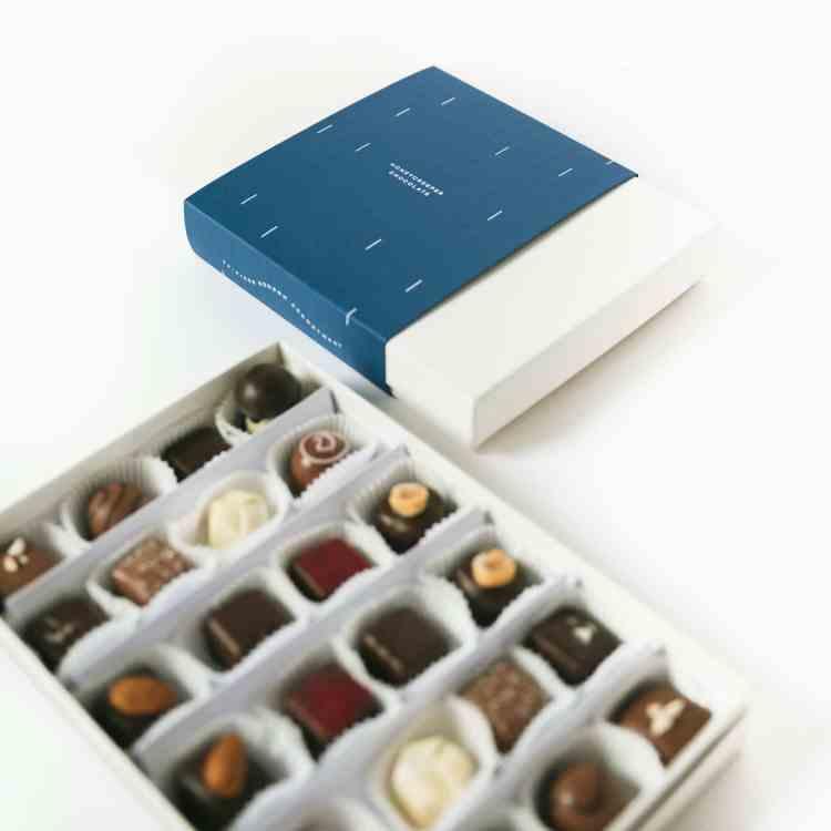 24-piece box of bon bons from Honeycreeper Chocolate