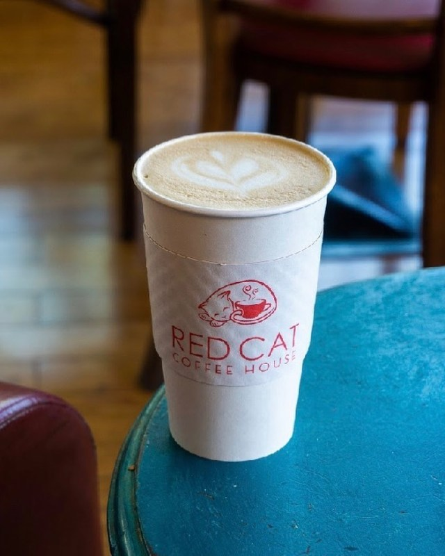 Latte from Red Cat Coffeehouse