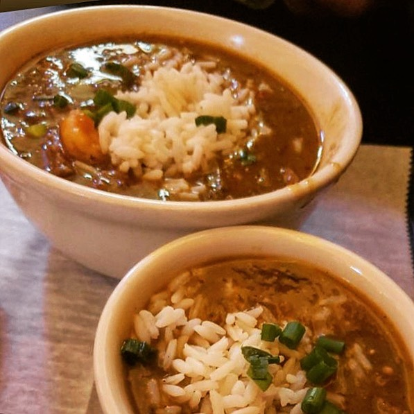 A bowl of gumbo from Rougaroux.