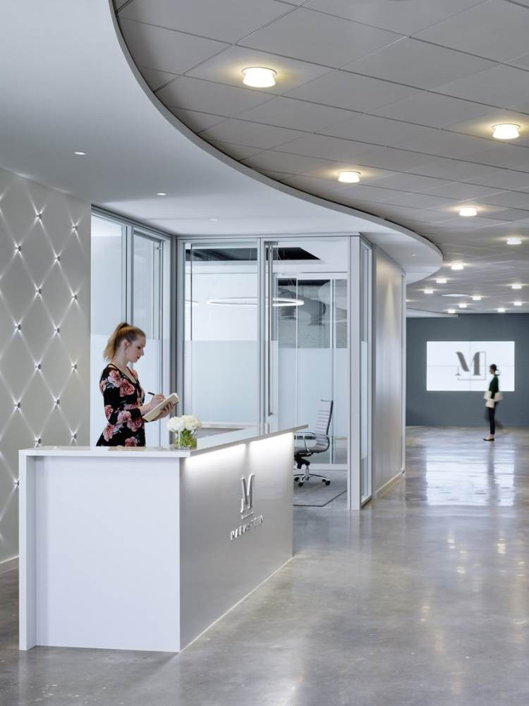 reception area in a Birmingham office of the future designed by Williams Blacksstock Architects