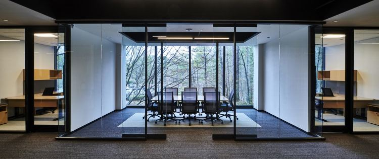 a beautiful reception area in the office for RMS in Hoover