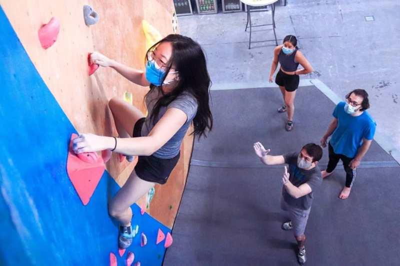 Rock climbing workout at Birmingham Boulders