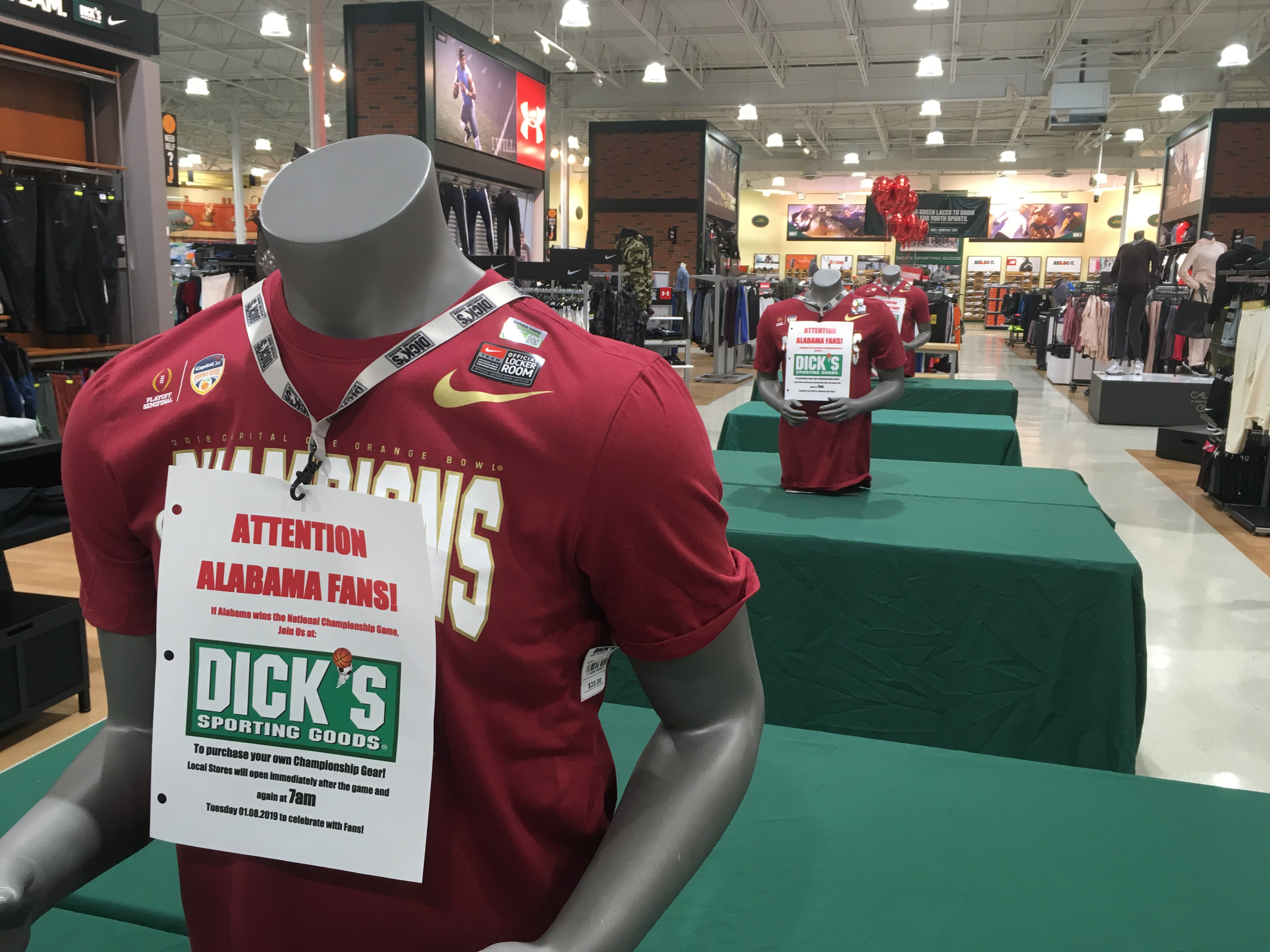 If Bama wins the CFB title these stores will reopen to sell you ...