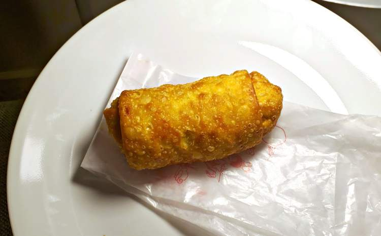 Egg roll from Chop Suey Inn in Green Springs