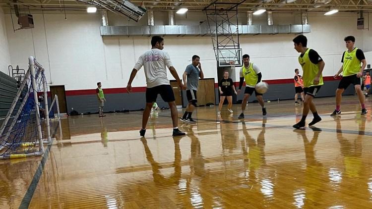 Birmingham Futsal league playing futsal