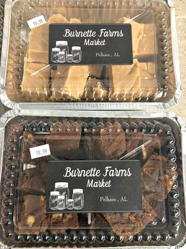 fresh made fudge from Burnette Farms Market & Café farmers market in Birmingham
