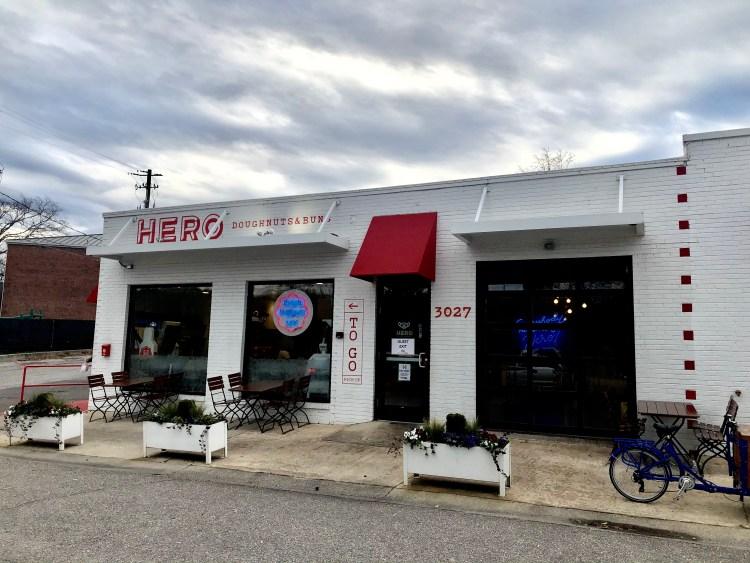 Hero Doughnuts storefront in Homewood