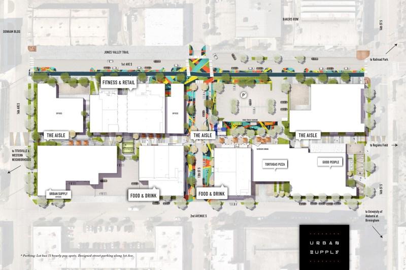 urban supply rendering map