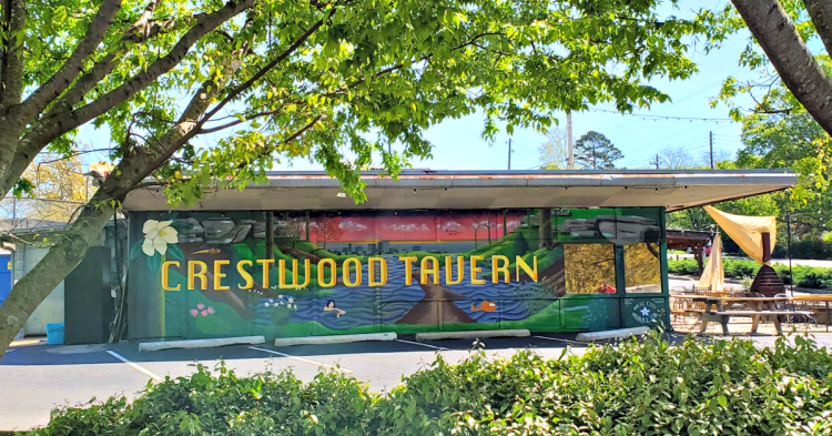 Crestwood Tavern from the park next door