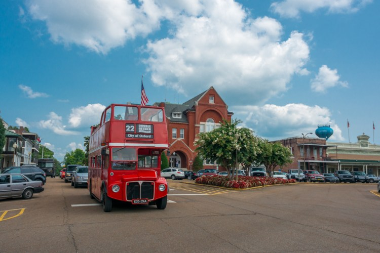 Oxford double decker bus