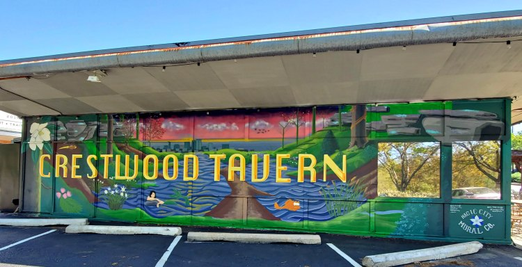 All the details on the Crestwood Tavern mural