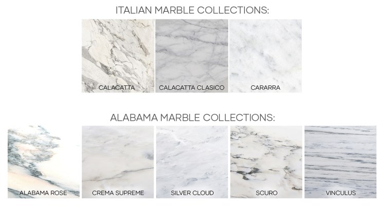Italian and Alabama Marble