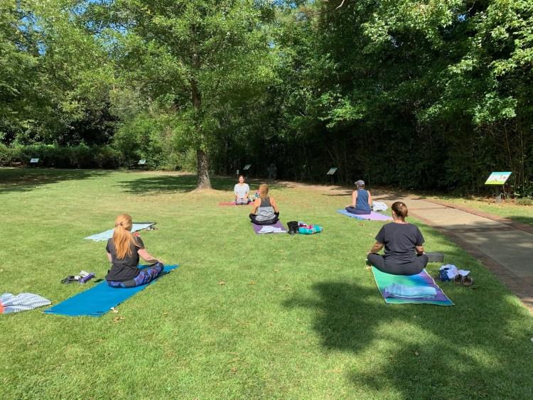 Villager Yoga outdoor yoga class