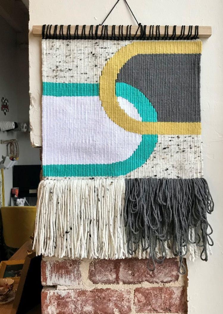 hanging woven art