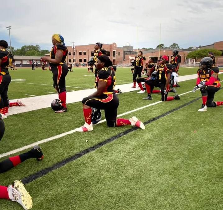 Alabama Fire Women's Tackle Football football players
