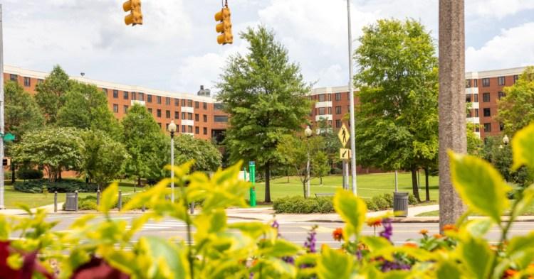 UAB campus flowers
