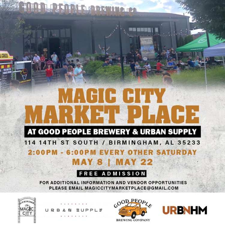 Magic City Market Place at Good People Brewery