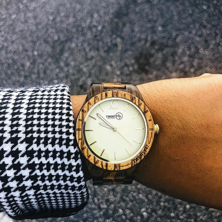 Twenty47 wood watch
