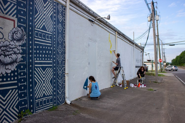 The new mural will overlook 1st Avenue. Photo by Libby Foster for Bham Now.
