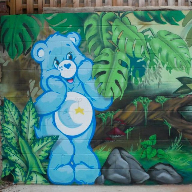 Care Bears mural by Mammoth Murals in Southside