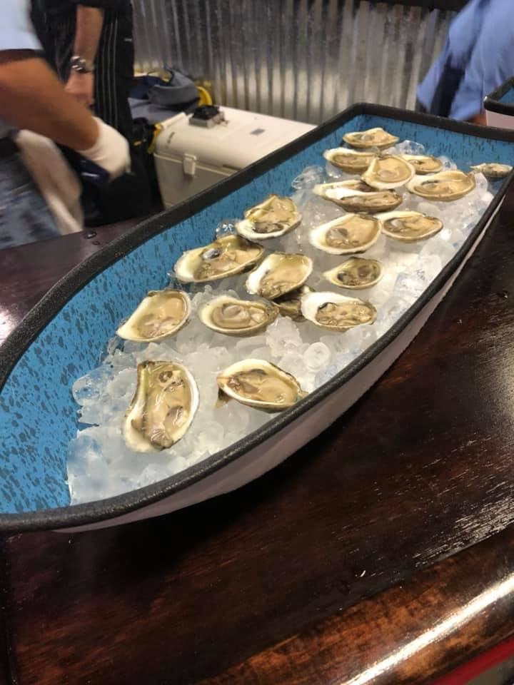 Oysters at fundraiser