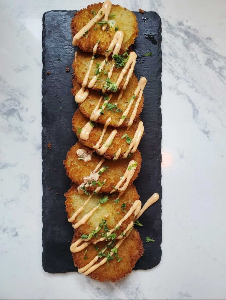 Real and Rosemary fried green tomatoes