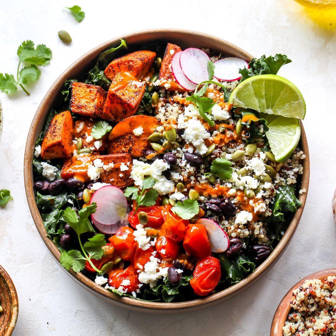 blue root sante fe salad