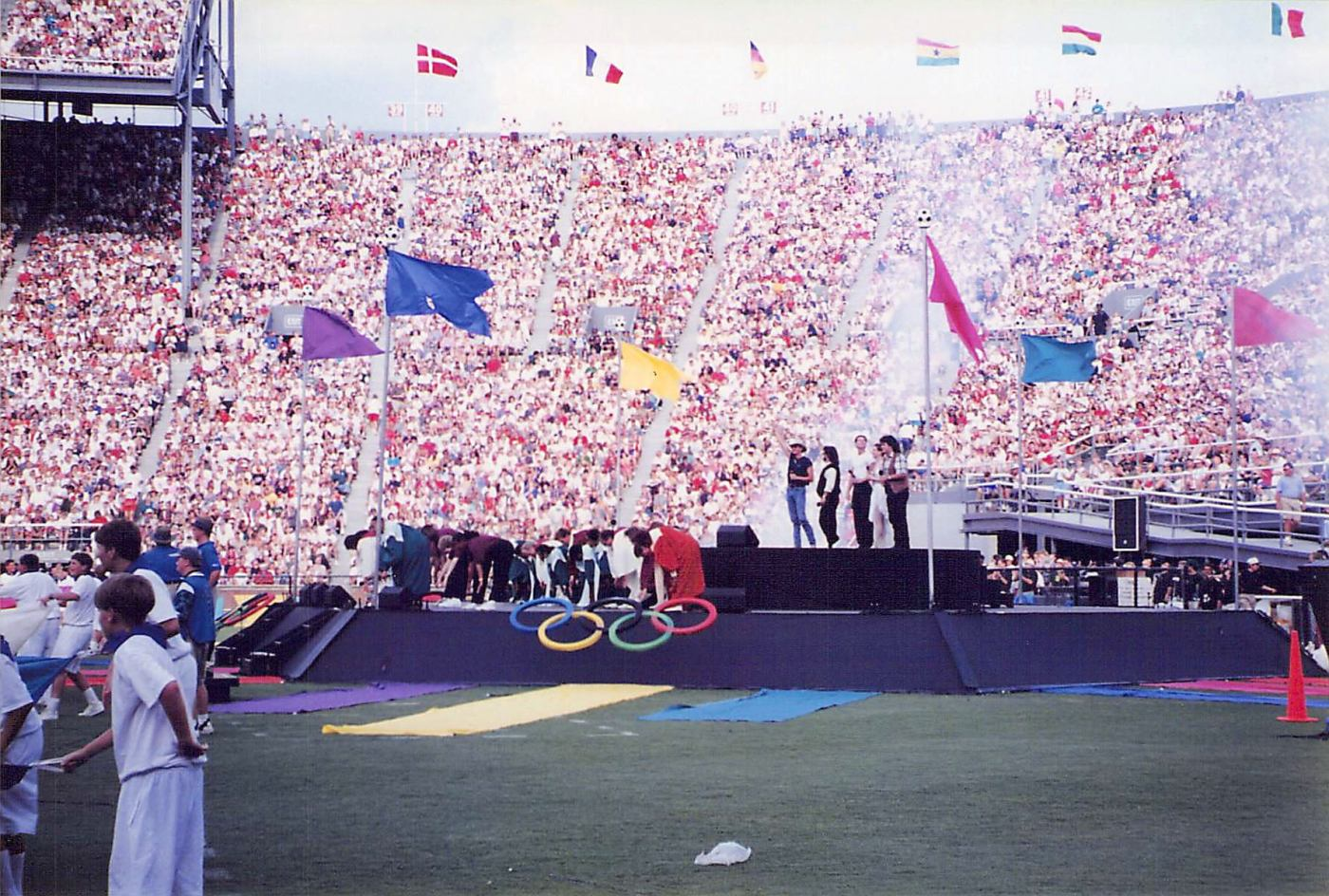 Opening ceremony for the 1996 Olympics